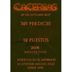 TIRADA PERDICES 29 OCT. 2017