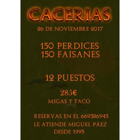 TIRADA PERDICES Y FAISANES 26 DE NOVIEMBRE 2017