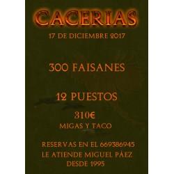 TIRADA 300 FAISANES 17 DICIEMBRE 2017